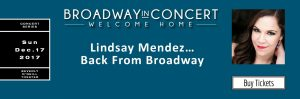 Lindsay Mendez Back From Broadway @ Beverly O'Neill Theater