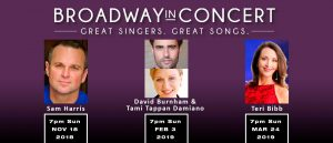 Sam Harris - Broadway in Concert @ Beverly O'Neill Theater